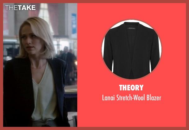 Theory black blazer from Quantico seen with Shelby Wyatt (Johanna Braddy)
