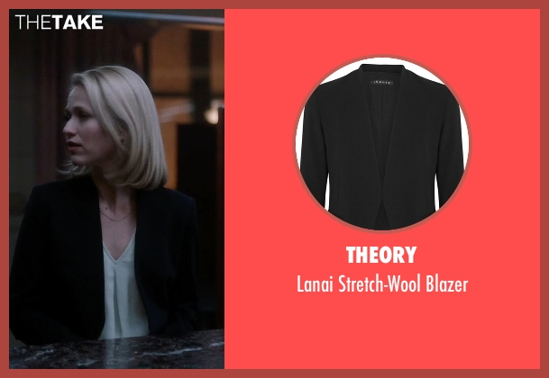 Theory black blazer from Quantico seen with Shelby Wyatt (Johanna Braddy)