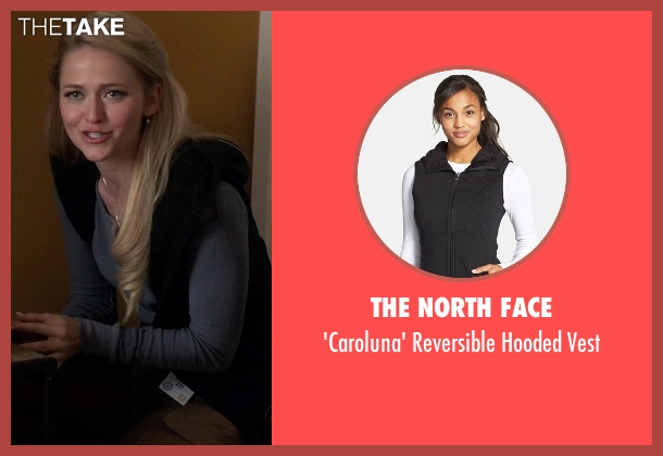 The North Face black vest from Quantico seen with Shelby Wyatt (Johanna Braddy)