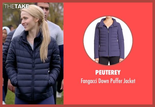 Peuterey blue jacket from Quantico seen with Shelby Wyatt (Johanna Braddy)