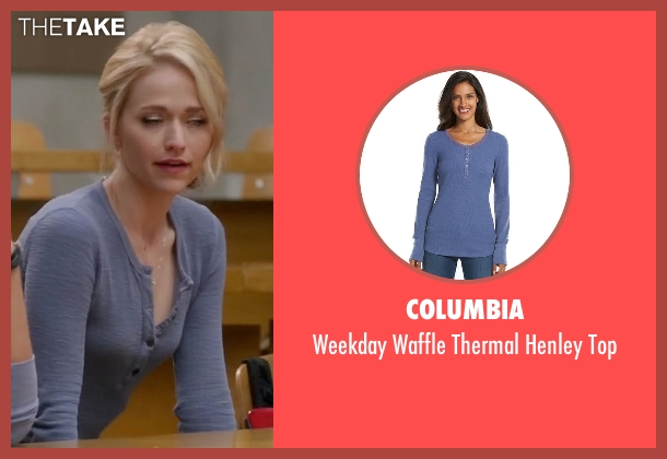 Columbia blue top from Quantico seen with Shelby Wyatt (Johanna Braddy)