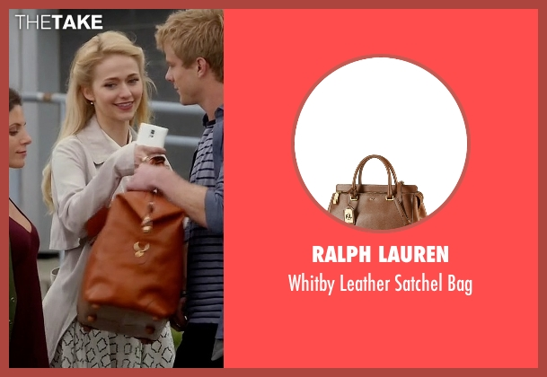 Ralph Lauren brown bag from Quantico seen with Shelby Wyatt (Johanna Braddy)