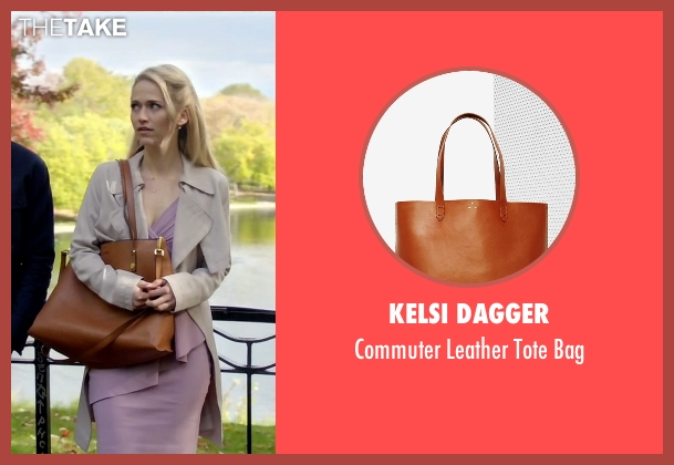 Kelsi Dagger brown bag from Quantico seen with Shelby Wyatt (Johanna Braddy)