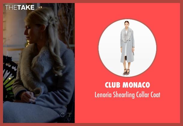 Club Monaco gray coat from Quantico seen with Shelby Wyatt (Johanna Braddy)