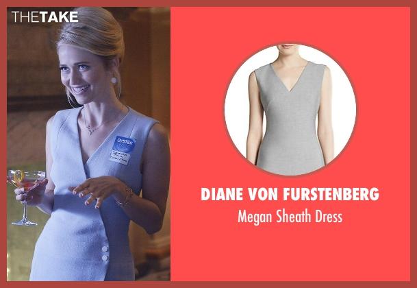Diane Von Furstenberg gray dress from Quantico seen with Shelby Wyatt (Johanna Braddy)