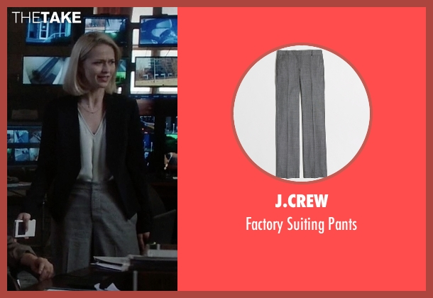 J.Crew gray pants from Quantico seen with Shelby Wyatt (Johanna Braddy)