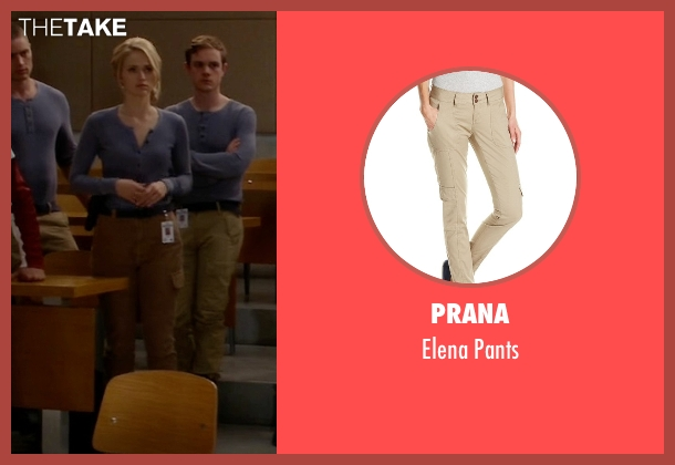 Prana pants from Quantico seen with Shelby Wyatt (Johanna Braddy)
