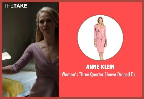Anne Klein pink dress from Quantico seen with Shelby Wyatt (Johanna Braddy)