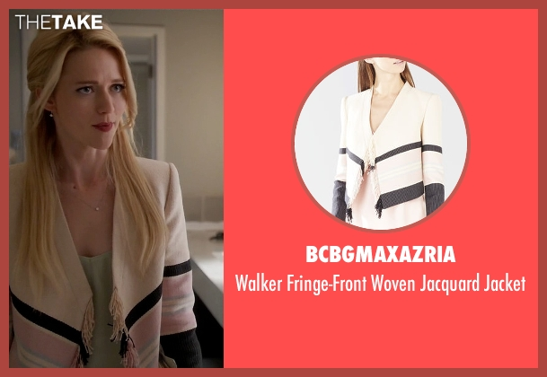 BCBGMAXAZRIA pink jacket from Quantico seen with Shelby Wyatt (Johanna Braddy)