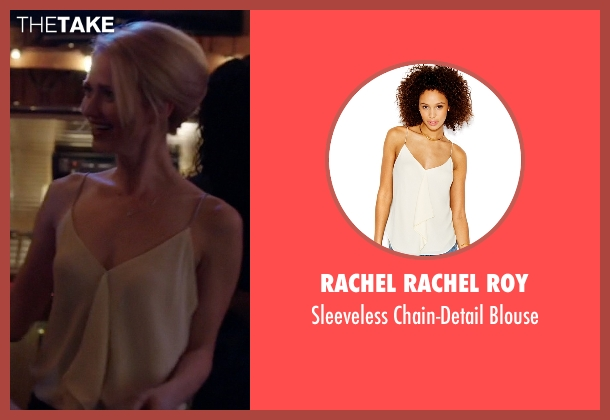 Rachel Rachel Roy white blouse from Quantico seen with Shelby Wyatt (Johanna Braddy)