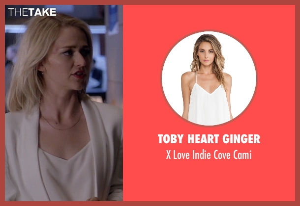 Toby Heart Ginger white cami from Quantico seen with Shelby Wyatt (Johanna Braddy)