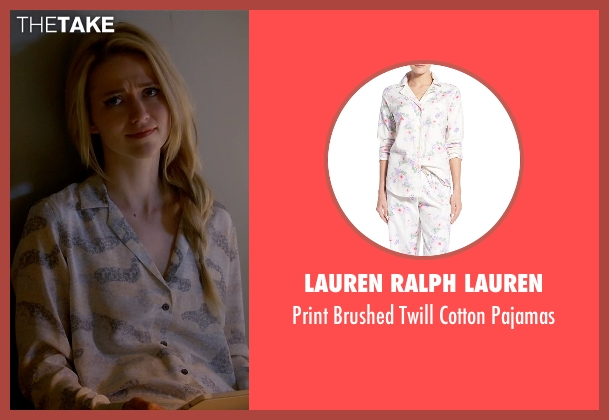 Lauren Ralph Lauren white pajamas from Quantico seen with Shelby Wyatt (Johanna Braddy)