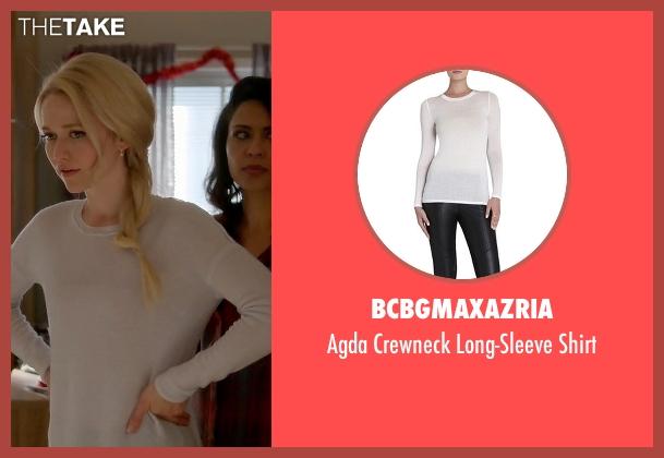 BCBGMAXAZRIA white shirt from Quantico seen with Shelby Wyatt (Johanna Braddy)