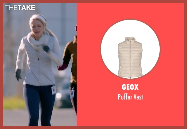 Geox white vest from Quantico seen with Shelby Wyatt (Johanna Braddy)