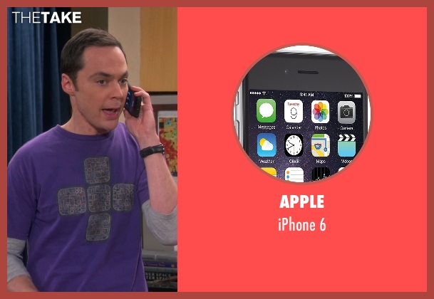 Apple 6 from The Big Bang Theory seen with Sheldon Cooper (Jim Parsons)