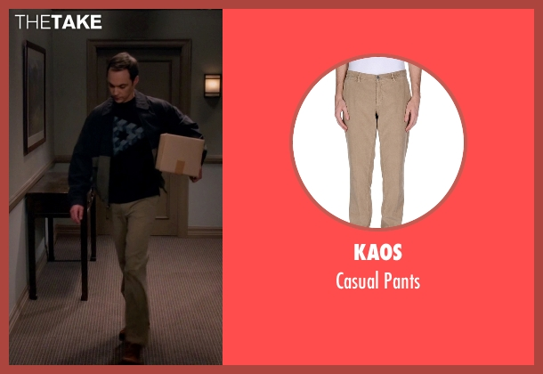 Kaos beige pants from The Big Bang Theory seen with Sheldon Cooper (Jim Parsons)