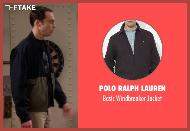 Polo Ralph Lauren black jacket from The Big Bang Theory seen with Sheldon Cooper (Jim Parsons)