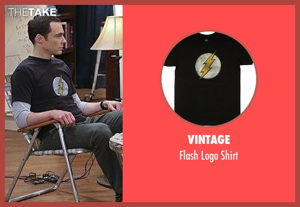 Vintage black shirt from The Big Bang Theory seen with Sheldon Cooper (Jim Parsons)