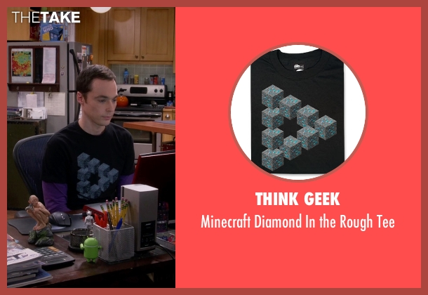 Think Geek black tee from The Big Bang Theory seen with Sheldon Cooper (Jim Parsons)