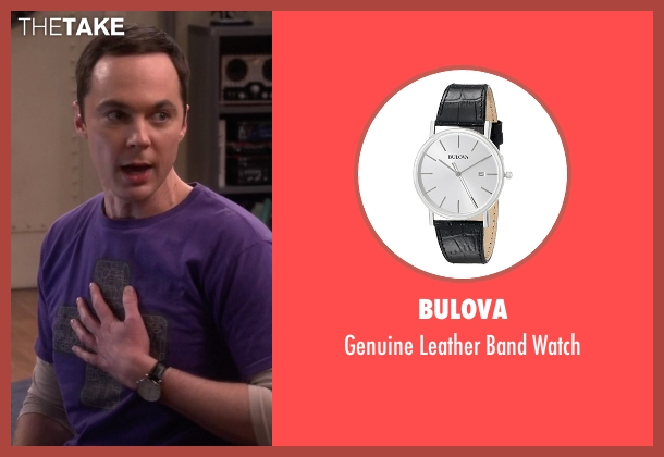 Bulova black watch from The Big Bang Theory seen with Sheldon Cooper (Jim Parsons)