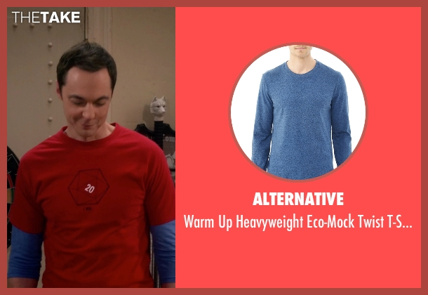Alternative blue t-shirt from The Big Bang Theory seen with Sheldon Cooper (Jim Parsons)