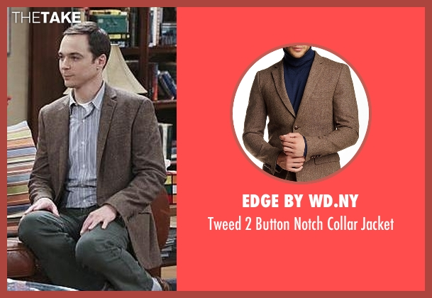 Edge by WD.NY brown jacket from The Big Bang Theory seen with Sheldon Cooper (Jim Parsons)