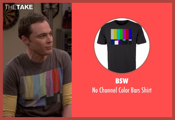 BSW brown shirt from The Big Bang Theory seen with Sheldon Cooper (Jim Parsons)