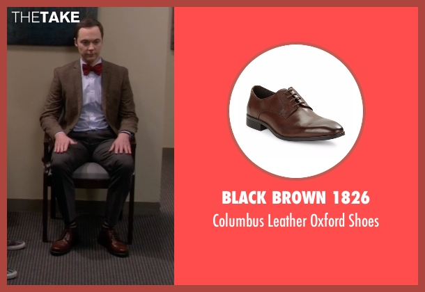 Black Brown 1826 brown shoes from The Big Bang Theory seen with Sheldon Cooper (Jim Parsons)