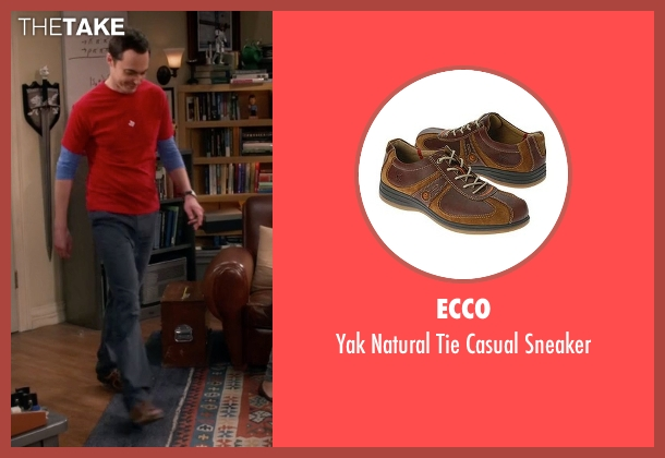 Ecco brown sneaker from The Big Bang Theory seen with Sheldon Cooper (Jim Parsons)