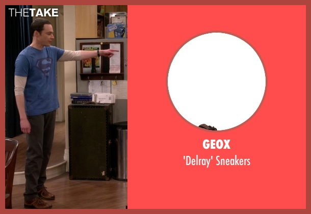 Geox brown sneakers from The Big Bang Theory seen with Sheldon Cooper (Jim Parsons)