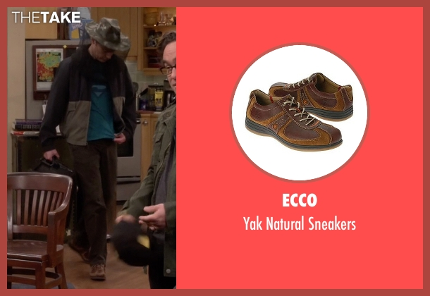 Ecco brown sneakers from The Big Bang Theory seen with Sheldon Cooper (Jim Parsons)