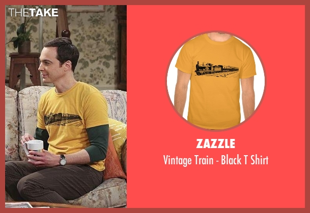 Zazzle gold shirt from The Big Bang Theory seen with Sheldon Cooper (Jim Parsons)