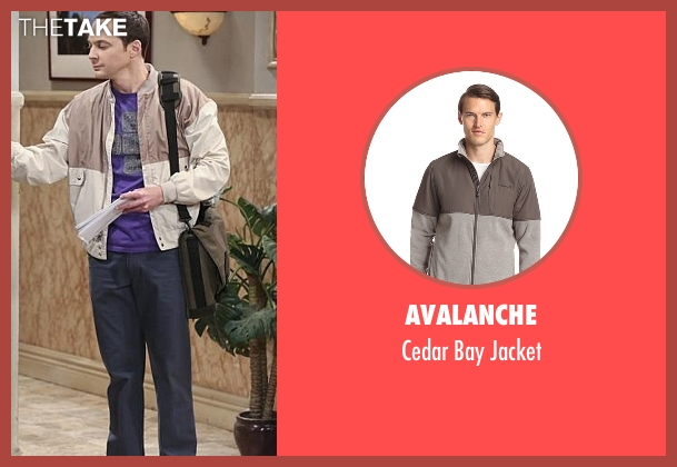 Avalanche gray jacket from The Big Bang Theory seen with Sheldon Cooper (Jim Parsons)