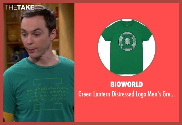 Bioworld green t-shirt from The Big Bang Theory seen with Sheldon Cooper (Jim Parsons)