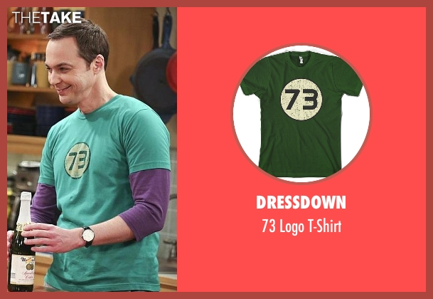 Dressdown green t-shirt from The Big Bang Theory seen with Sheldon Cooper (Jim Parsons)