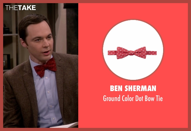 Ben Sherman red tie from The Big Bang Theory seen with Sheldon Cooper (Jim Parsons)