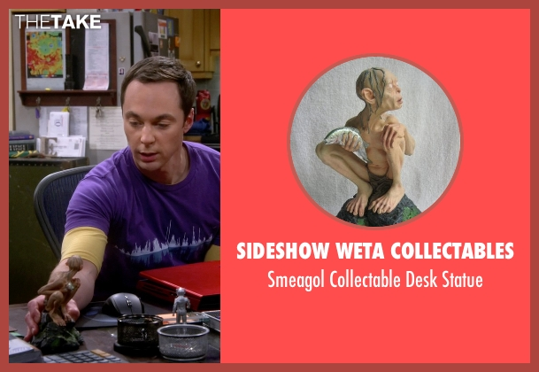 Sideshow Weta Collectables statue from The Big Bang Theory seen with Sheldon Cooper (Jim Parsons)