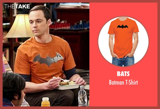 Bats t-shirt from The Big Bang Theory seen with Sheldon Cooper (Jim Parsons)