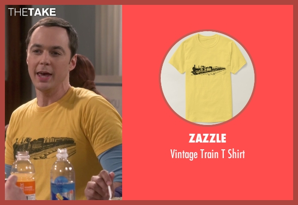 Zazzle yellow shirt from The Big Bang Theory seen with Sheldon Cooper (Jim Parsons)