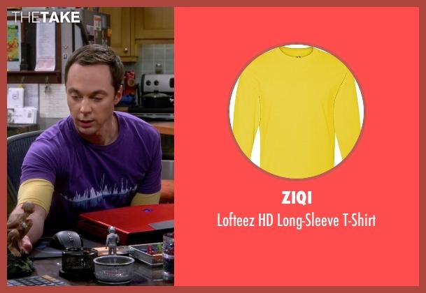 Ziqi yellow t-shirt from The Big Bang Theory seen with Sheldon Cooper (Jim Parsons)