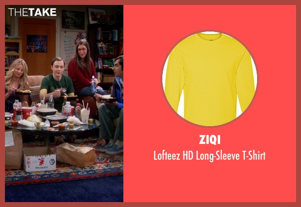 Ziqi yellow t-shirt from The Big Bang Theory seen with Sheldon Cooper (Jim Parsons)