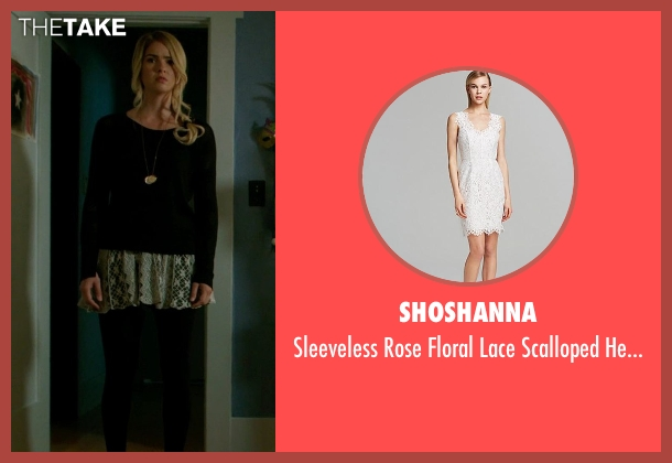 Shoshanna white dress from Ouija seen with Shelley Hennig (Debbie)