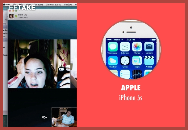 Apple 5s from Unfriended seen with Shelley Hennig (Blaire)