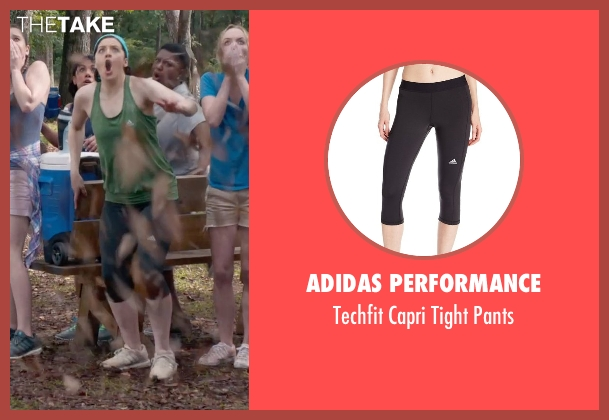 Adidas Performance black pants from Pitch Perfect 2 seen with Shelley Regner (Ashley)