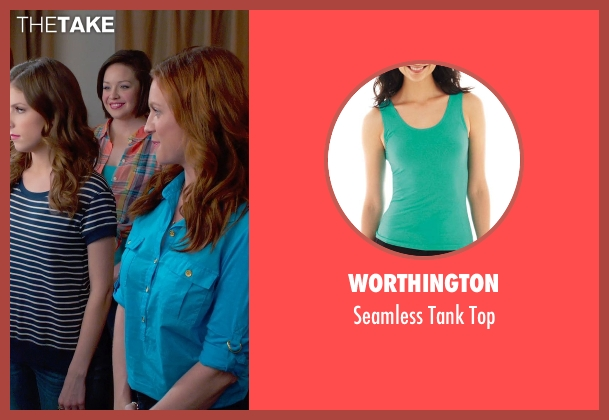 Worthington green top from Pitch Perfect 2 seen with Shelley Regner (Ashley)