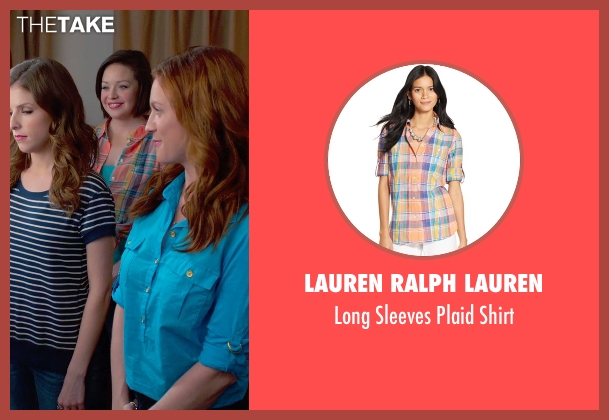 Lauren Ralph Lauren orange shirt from Pitch Perfect 2 seen with Shelley Regner (Ashley)