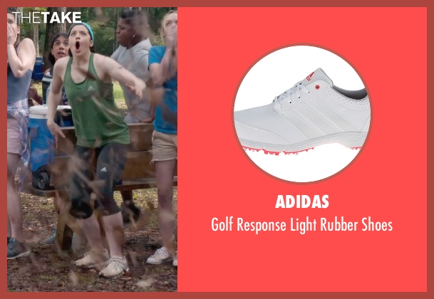 Adidas white shoes from Pitch Perfect 2 seen with Shelley Regner (Ashley)