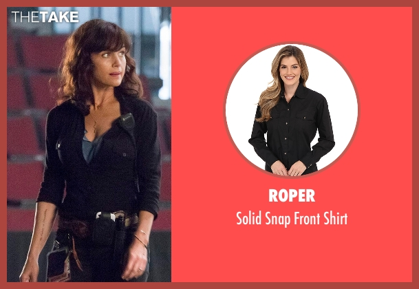 Roper black shirt from Roadies seen with Shelli (Carla Gugino)