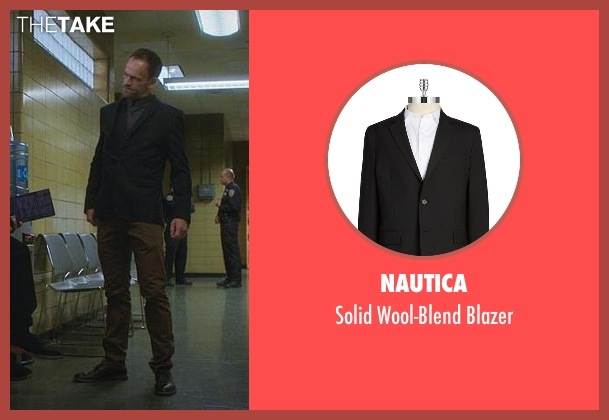 Nautica black blazer from Elementary seen with Sherlock Holmes (Jonny Lee Miller)