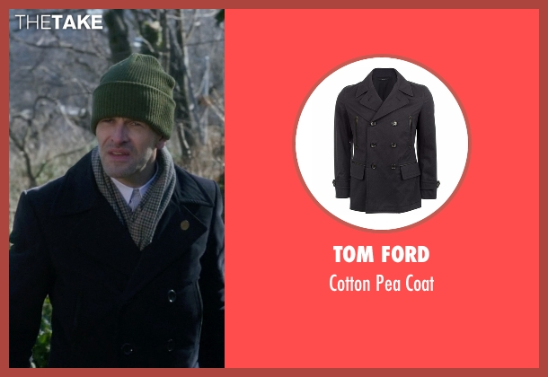 Tom Ford black coat from Elementary seen with Sherlock Holmes (Jonny Lee Miller)